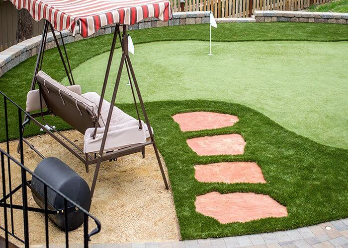 Commercial Landscaping Artificial Grass In Denver Colorado